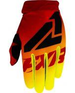 FXR Enfant Clutch Strap MX Gants de cross Jaune fluo/Rouge