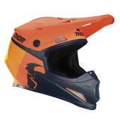 Thor Casque de motocross Sector Racer orange bleu foncé