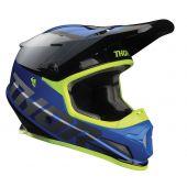 Thor Casque de motocross Sector Fader bleu noir