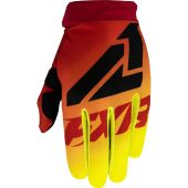FXR Clutch Strap MX Glove Red/Hi Vis