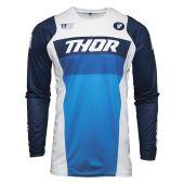 Thor Maillot de cross Pulse Racer blanc bleu marine