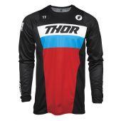 Thor Enfant Maillot de cross Pulse Racer noir rouge bleu