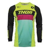 Thor Enfant Maillot de cross PULSE Racer vert citron noir