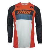 Thor Enfant Maillot de cross PULSE Racer orange bleu foncé
