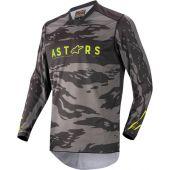 Alpinestars Maillot de cross pour enfants Racer Tactical Noir/Camouflage/Jaune