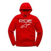 Alpinestars ride 2.0 fleece hoody red/white