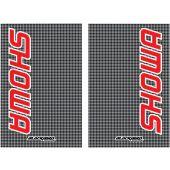 Blackbird Stickers de fourche SHOWA CARBON LOOK 2PK