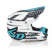 6D Helmet ATR-2 Youth Havoc Cyan/White