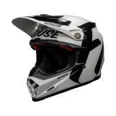 BELL Moto-9 Flex Casque de cross Fasthouse Newhall Brillant Blanc/Noir