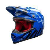BELL Moto-9 Flex Casque de cross Fasthouse DID 20 Brillant Bleu/Blanc