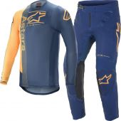 Alpinestars Supertech Foster Blue Orange Gear combo