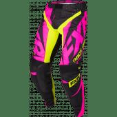 FXR Youth Clutch Prime MX Pant Black/Elec Pink/HiVis