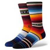 Stance Chaussettes Curren Staple Crew Rouge