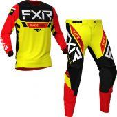 FXR Helium MX Yellow Black Red Gear combo