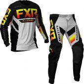 FXR Podium MX Black Red Hi Viz Grey Aztec Gear combo