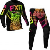 FXR Podium MX Sherbert Aztec Gear combo