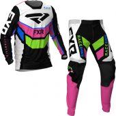 FXR Podium MX Black White Pink Lime Blue Gear combo