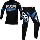 FXR Revo MX Black Blue Gear Combo