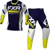 FXR Revo MX Midnight White Yellow Gear Combo