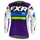 Maillot FXR Revo MX Blanc/Violet/Citron