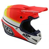 Troy Lee Designs SE4 Composite Helmet KTM Mirage White Orange