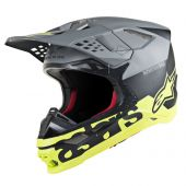 Alpinestars Helmet Supertech SM8 Radium Black Gray Yellow