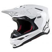 Casque Alpinestars Supertech SM8 Solid Brillant Blanc