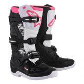 Bottes Motocross Femme ALPINESTARS TECH 3 STELLA noir/blanc/rose
