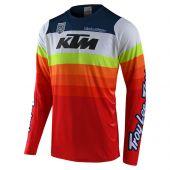 Troy Lee Designs SE Pro maillot motocross KTM Mirage Blanc Rouge