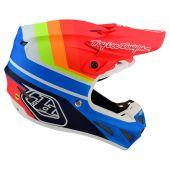 Troy Lee Designs SE4 Composite casque motocross Mirage bleu Red